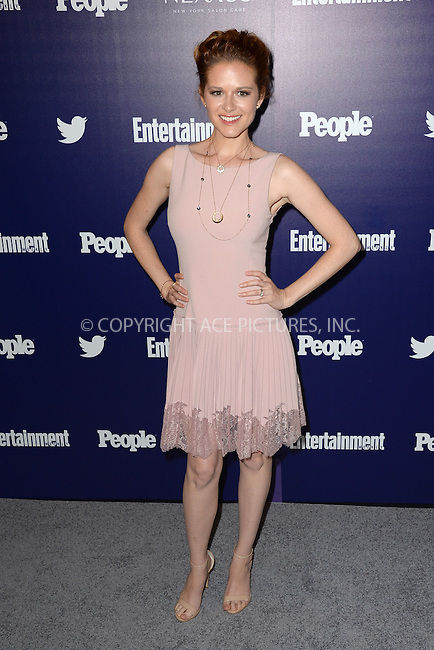 WWW.ACEPIXS.COM<br /> May 11, 2015 New York City<br /> <br /> Sarah Drew attending the Entertainment Weekly and People celebration of The New York Upfronts at The Highline Hotel onMay 11, 2015 in New York City.<br /> <br /> Please byline: Kristin Callahan/AcePictures<br /> <br /> Tel: (646) 769 0430<br /> e-mail: info@acepixs.com<br /> web: http://www.acepixs.com