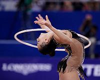 September 14, 2018 - Sofia, Bulgaria - LINOY ASHRAM of Israel performs during AA final  at 2018 World Championships.