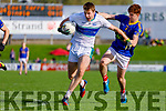 Barry O' Sullivan Dingle in action against Shane Courtney East Kerry in the Kerry Senior Football County Championship Semi Final between Dingle and East Kerry at Austin Stack Park on Sunday.