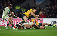 Jonathan Joseph of England looks to reach the try-line in the second half. Old Mutual Wealth Series International match between England and Australia on November 18, 2017 at Twickenham Stadium in London, England. Photo by: Patrick Khachfe / Onside Images