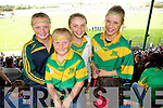 Sarah McCarthy, Sarah Walsh, Anna McCarthy and Katlyn Brick at the Senior County Hurling final, Lixnaw V Kilmoyley at Austin Stack Park on Sunday