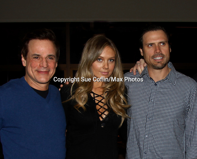 Christian Jules LeBlanc & Melissa Ordway & Joshua Morrow - The Young and The Restless - Genoa City Live celebrating over 40 years with on February 27. 2016 at The Lyric Opera House, Baltimore, Maryland on stage with questions and answers followed with autographs and photos in the theater.  (Photo by Sue Coflin/Max Photos)