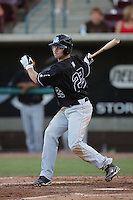 September 6 2009:  Nick Noonan of the San Jose Giants during game against the Lake Elsinore Storm at The Diamond in Lake Elsinore,CA.  Photo by Larry Goren/Four Seam Images