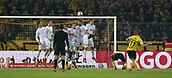 February 5th 2019, Dortmund, Germany, German DFB Cup round of 16, Borussia Dortmund versus SV Werder Bremen;   The goal for 1-1 from the free kick, by Marco REUS, BVB