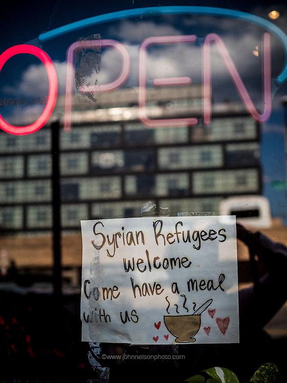 The restaurant Thai X-ing has a warm welcome for Syrian refugees, Washington, DC