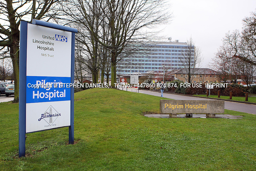 *NO INTERNET USE PERMITTED*  PRINT MEDIA ONLY<br /> &gt;<br /> DANPIC's; PHOTO &copy;  Stephen Daniels  15/01/2008<br /> Boston Hospital also known as Pilgrim Hospital, Boston, Lincs<br /> &gt;<br /> Minimum Fee &pound;200.00+VAT<br /> <br /> *NO INTERNET USE PERMITTED*  PRINT MEDIA ONLY<br /> All images supplied under the terms and condition of Stephen Daniels and not publication which use them. All images which is the copyright of Stephen Daniels and/or DANPICS are supplied under the terms and condition of Stephen Daniels