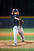 Tampa Yankees relief pitcher Jacob Lindgren (40) delivers a pitch during a game against the Lakeland Flying Tigers on April 7, 2016 at Henley Field in Lakeland, Florida.  Tampa defeated Lakeland 9-2.  (Mike Janes/Four Seam Images)