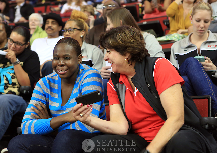 06072013- Women's Basketball coach Joan Bonvicini at a Storm basketball game at Key Aerna.