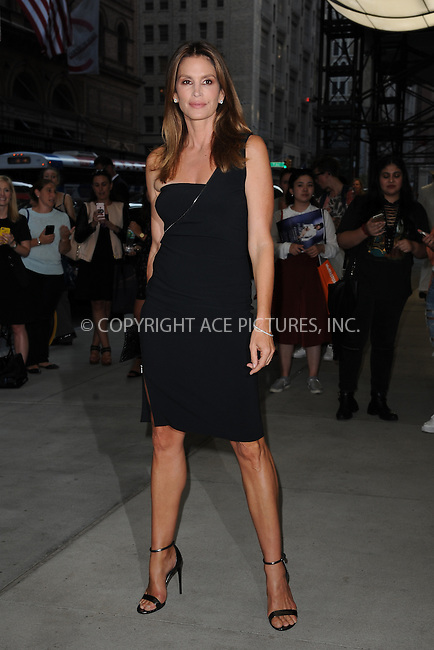 www.acepixs.com<br /> September 8, 2016  New York City<br /> <br /> Cindy Crawford attending the The Daily Front Row's 4th Annual Fashion Media Awards at Park Hyatt New York on September 8, 2016 in New York City. <br /> <br /> <br /> Credit: Kristin Callahan/ACE Pictures<br /> <br /> <br /> Tel: 646 769 0430<br /> Email: info@acepixs.com