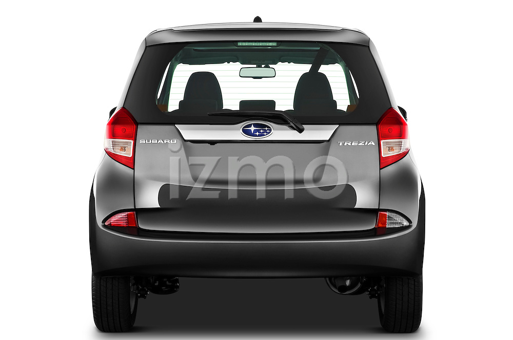 Straight rear view of a 2011 Subaru Trezia Comfort 5 Door Hatchback