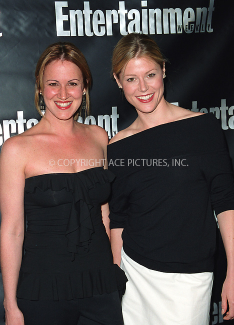 JANA MARIE HUPP and JULIE BOWEN attending the Entertainment Weekly's 8th Annual Academy Awards Viewing Party at Elaine's Restaurant in New York. March 24, 2002.  © 2002 by Alecsey Boldeskul/NY Photo Press.   ..*PAY-PER-USE*      ....NY Photo Press:  ..phone (646) 267-6913;   ..e-mail: info@nyphotopress.com