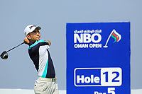 Soomin Lee (KOR) during the second round of the NBO Open played at Al Mouj Golf, Muscat, Sultanate of Oman. <br /> 16/02/2018.<br /> Picture: Golffile | Phil Inglis<br /> <br /> <br /> All photo usage must carry mandatory copyright credit (&copy; Golffile | Phil Inglis)