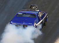 Jun 18, 2016; Bristol, TN, USA; NHRA pro mod driver Jim Whiteley during qualifying for the Thunder Valley Nationals at Bristol Dragway. Mandatory Credit: Mark J. Rebilas-USA TODAY Sports