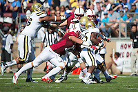 Stanford, CA -- October 19, 2013:  Stanford's A.J. Tarpley during a game against UCLA at Stanford Stadium. Stanford defeated the Bruins 24-10.