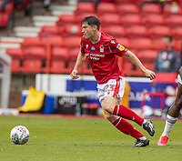 7th July 2020; City Ground, Nottinghamshire, Midlands, England; English Championship Football, Nottingham Forest versus Fulham; Joe Lolley of Notts Forest breaks forward on the ball