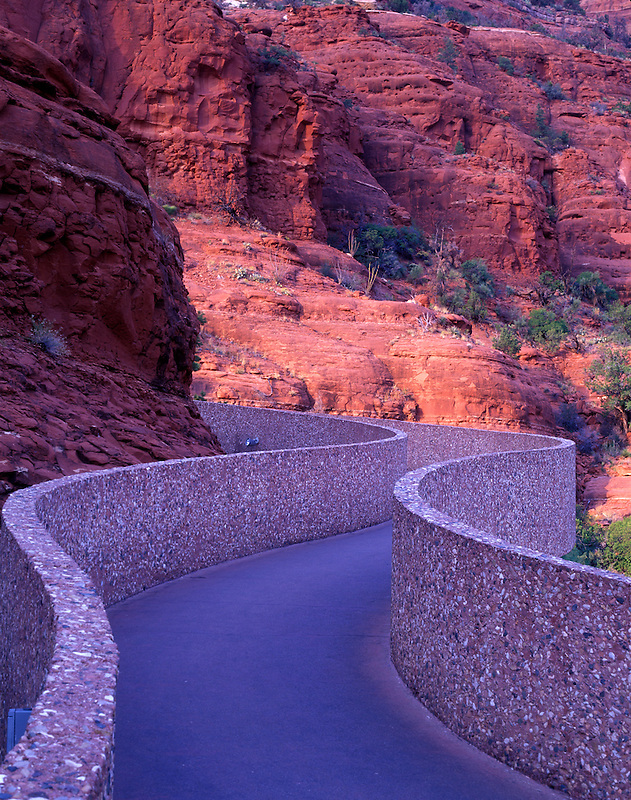 Ramp leading to the Chapel of the Holy Cross. Sedona, Arizona