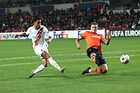Justin Kluivert of AS Roma scores the goal of 0-2 for his side<br /> Istanbul 28-11-2019 <br /> Football Europa League 2019/2020 <br /> Istanbul Basaksehir - AS Roma    <br /> Photo Gino Mancini / Insidefoto
