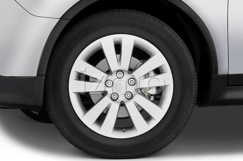 Tire and wheel detail view of a 2008 Subaru Tribeca SUV