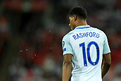 5th October 2017, Wembley Stadium, London, England; FIFA World Cup Qualification, England versus Slovenia; Marcus Rashford of England
