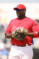 March 18th 2008:  Ryan Howard of the Philadelphia Phillies during a Spring Training game at Bright House Networks Field in Clearwater, FL.  Photo by:  Mike Janes/Four Seam Images