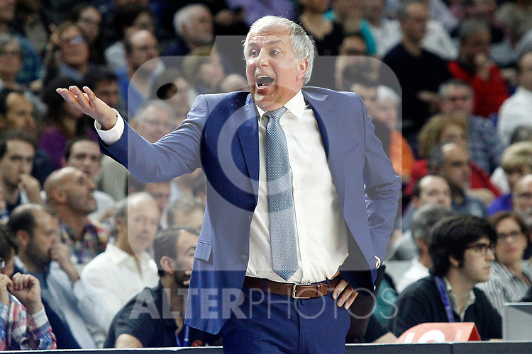 Fenerbahce Istambul's coach Zeljko Obradovic during Euroleague, Regular Season, Round 29 match. March 31, 2017. (ALTERPHOTOS/Acero)