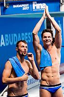 HAUSDING Patrick, KLEIN Sascha GER<br /> Men's 10m Synchro Platform Final Bronze Medal<br /> Diving <br /> Day 04 17/07/2017 <br /> XVII FINA World Championships Aquatics<br /> Duna Arena Budapest Hungary July 15th - 30th 2017 <br /> Photo @A.Masini/Deepbluemedia/Insidefoto