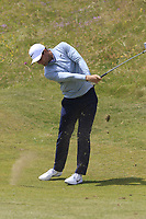 Lucas Bjerregaard (DEN) plays his 2nd shot on the 4th hole during Thursday's Round 1 of the Dubai Duty Free Irish Open 2019, held at Lahinch Golf Club, Lahinch, Ireland. 4th July 2019.<br /> Picture: Eoin Clarke | Golffile<br /> <br /> <br /> All photos usage must carry mandatory copyright credit (© Golffile | Eoin Clarke)