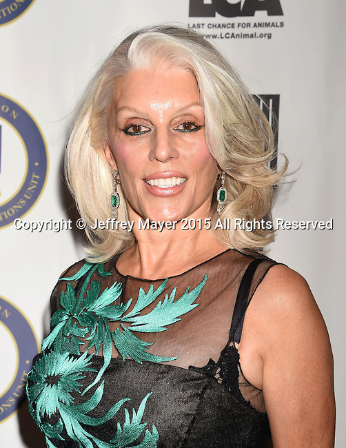 BEVERLY HILLS, CA - OCTOBER 24: Actress Shera Danese Falk attends the Last Chance for Animals Benefit Gala at The Beverly Hilton Hotel on October 24, 2015 in Beverly Hills, California.