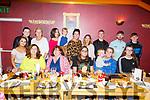 Enjoying the evening out in Ristorante Uno on Monday night. Seated l-r, Eileen Shanahan, Joanne Long, Clodagh Shanahan, Amy McLoughlin, Mia Doyle and Roisin Long.<br /> Back l-r,  Aislinn McLoughlin, Shannon Roche, Mary McLoughlin, Siobhan Long, Alfie Brofey, Sarah McLoughlin, Rachel, Aaron, Danny and Mark Roche.