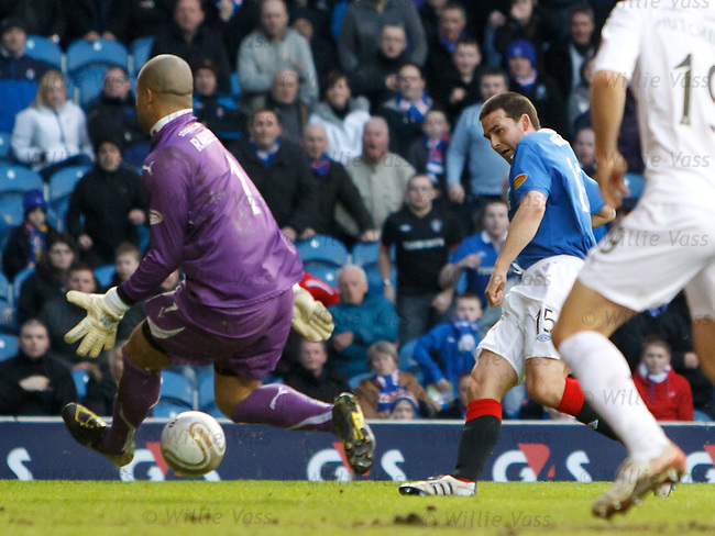 David Healy slots the ball under keeper Darren Randolph for goal no 6 on his debut