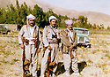 Iran 1981 <br /> In Ziweh, from right to left, officers Jalal Kirkouki ,Mirkhan Mohamedamin and Ahmed Hassan<br /> Iran 1981<br /> A Ziweh, de droite a gauche, les officiers Jalal Kirkouki, Mirkhan Mohamedamin et Ahmed Hassan