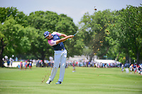 Sergio Garcia (ESP) hits his approach shot on 3 during round 2 of the Dean &amp; Deluca Invitational, at The Colonial, Ft. Worth, Texas, USA. 5/26/2017.<br /> Picture: Golffile | Ken Murray<br /> <br /> <br /> All photo usage must carry mandatory copyright credit (&copy; Golffile | Ken Murray)