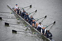 Putney, London,  Tideway Week, Championship Course. River Thames, OUWBC Training with Chief Coach, Ali BROWN. Crew: Oxford WBC<br /> <br /> Bow:Alice ROBERT, 2: Flo PICKLES, 3: Rebecca Esselstein &ndash; USA., 4: Rebecca Te Water Naude, 5: Harriet Austin, 6: Chloe Laverack &ndash; USA., 7: Emily Cameron &ndash; CAN., Stroke: Jenna Hebert, Cox: Eleanor Shearer.<br /> <br /> Wednesday  29/03/2017<br /> [Mandatory Credit; Credit: KARON PHILLIPS/Intersport Images.com ]