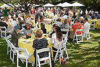 Occidental College hosts brunch for students and family at the President's House on the day before commencement, Saturday, May 15, 2010. Oxy President Jonathan Veitch and Sarah Veitch welcomed guests. (Photo by Marc Campos, Occidental College Photographer)