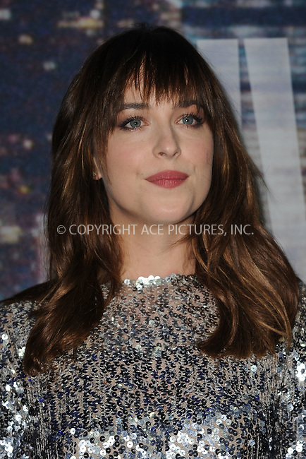 WWW.ACEPIXS.COM<br /> February 15, 2015 New York City<br /> <br /> Dakota Johnson walking the red carpet at the SNL 40th Anniversary Special at 30 Rockefeller Plaza on February 15, 2015 in New York City.<br /> <br /> Please byline: Kristin Callahan/AcePictures<br /> <br /> ACEPIXS.COM<br /> <br /> Tel: (646) 769 0430<br /> e-mail: info@acepixs.com<br /> web: http://www.acepixs.com