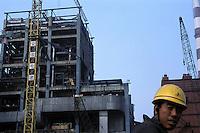 Construction of a power station at Pingdingshan, Henan..