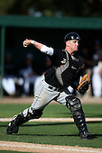 March 13, 2010:  Catcher JT Watkins of Army vs. Long Island University Blackbirds in a game at Henley Field in Lakeland, FL.  Photo By Mike Janes/Four Seam Images