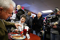 Rick Santorum campaigns at a cafe in Polk City, Iowa on Monday, January 2, 2012.  (Christopher Gannon/GannonVisuals.com/MCT)
