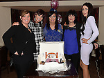Geraldine Arnold celebrating her 40th birthday in Daly's of Donore with Bernadette Sullivan, niece Brigit Carroll, Sister Ann Carroll and daughter Shauna Arnold. Photo:Colin Bell/pressphotos.ie