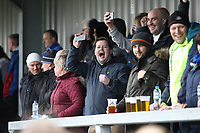 Stockport County supporters during the Vanarama National League North match between Nuneaton Town and Stockport County at the Liberty Way Stadium, Nuneaton, England on 27 April 2019. Photo by James  Gill.