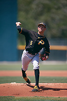 Pittsburgh Pirates pitcher Mason Ward (5) during a Minor League Extended Spring Training game against the Philadelphia Phillies on May 3, 2018 at the Pirate City in Bradenton, Florida.  (Mike Janes/Four Seam Images)