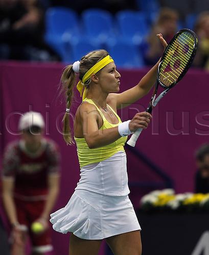 09.02.2013. Moscow, Russia. Fed Cup Tennis, Russia versus Japan.   Kirilenko RUS