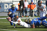 Bishop Gorman's Amod Cianelli dives for the goal line during the first half of the NIAA 4A state championship football game in Reno, Nev., on Saturday, Dec. 2, 2017. Cathleen Allison/Las Vegas Review Journal @NVMomentum