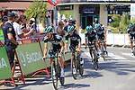 Bora-Hansgrohe including Rafal Majka (POL) recon Stage 1 of La Vuelta 2019, a team time trial running 13.4km from Salinas de Torrevieja to Torrevieja, Spain. 24th August 2019.<br /> Picture: Eoin Clarke | Cyclefile<br /> <br /> All photos usage must carry mandatory copyright credit (© Cyclefile | Eoin Clarke)