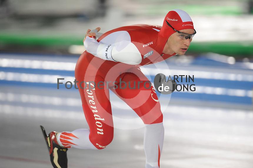 SCHAATSEN: AMSTERDAM: Olympisch Stadion, 01-03-2014, KPN NK Sprint/Allround, Coolste Baan van Nederland, Renz Rotteveel, ©foto Martin de Jong
