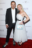 "WEST HOLLYWOOD, CA, USA - FEBRUARY 27: Ken Jordan, Janine Jordan at the 5th Anniversary Celebration Of Suzy Amis Cameron's Ecofashion Campaign ""Red Carpet Green Dress"" held at Palihouse on February 27, 2014 in West Hollywood, California, United States. (Photo by David Acosta/Celebrity Monitor)"