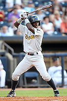 Trenton Thunder outfielder Melky Mesa #25 during a game against the Akron Aeros at Canal Park on July 26, 2011 in Akron, Ohio.  Trenton defeated Akron 4-3.  (Mike Janes/Four Seam Images)