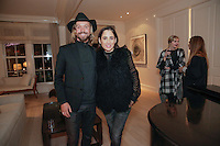 Scott Linde and April Garguilo attend the <br /> CAP Beauty + Jenni Kayne Dinner on Nov. 5, 2015 (Photo by Inae Bloom/Guest of a Guest)