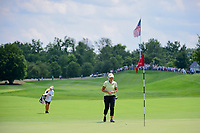Brooke M. Henderson (CAN) steps onto the number 1 green during Saturday's third round of the 72nd U.S. Women's Open Championship, at Trump National Golf Club, Bedminster, New Jersey. 7/15/2017.<br /> Picture: Golffile | Ken Murray<br /> <br /> <br /> All photo usage must carry mandatory copyright credit (&copy; Golffile | Ken Murray)