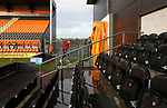 Barnet 2 Morecambe 0, 16/12/2017. The Hive, League Two. Morecambe players heading back to the dressing room after inspecting the pitch. Photo by Paul Thompson.